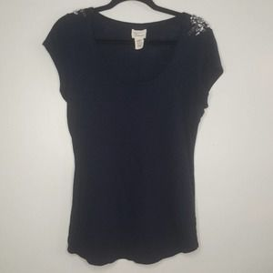 Andrea Jovine Cotton Rayon Top Bling Tee Blouse N